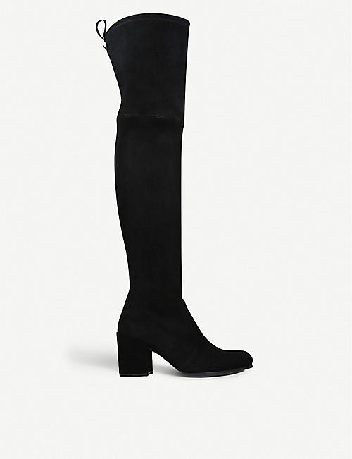 STUART WEITZMAN: Tieland velvet over-the-knee boots