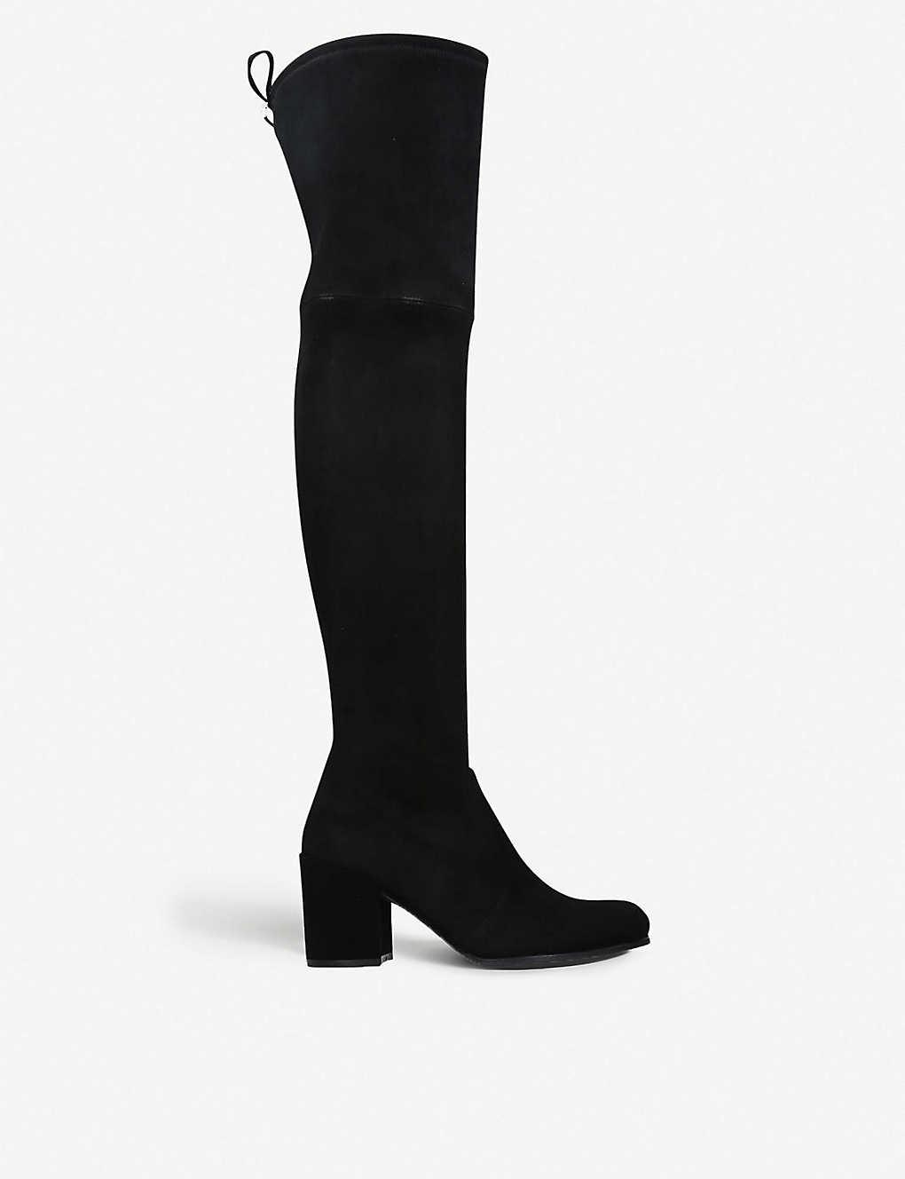 Velvet Over Knee Boots