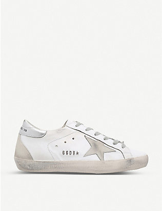 GOLDEN GOOSE: Superstar W77 leather trainers
