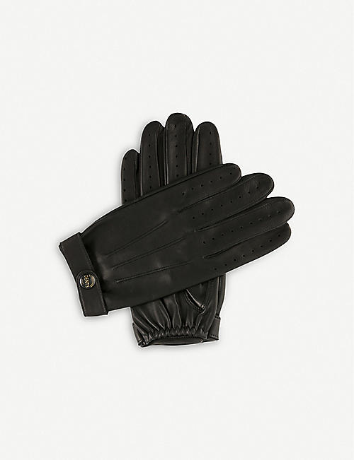 DENTS Fleming leather driving gloves