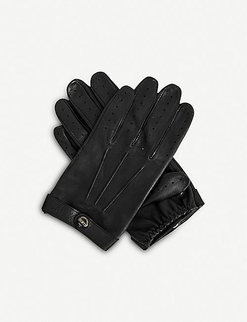 DENTS: Fleming leather driving gloves