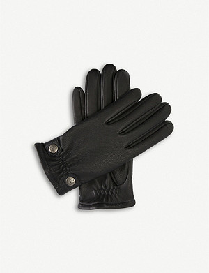 DENTS Studded leather gloves