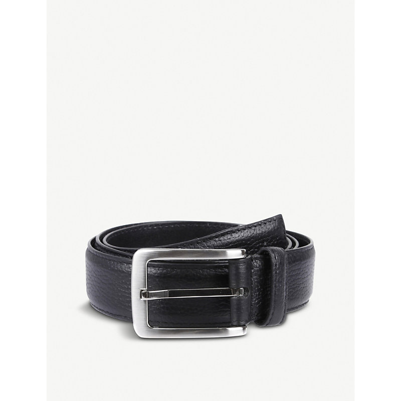 DENTS | Textured Leather Belt | Goxip