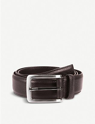 DENTS: Textured leather belt