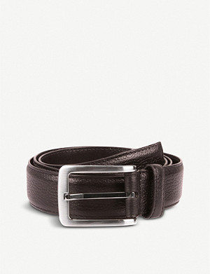 DENTS Textured leather belt