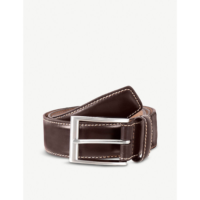 DENTS | Contrast Topstitch Belt | Goxip