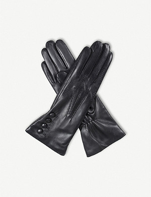 DENTS 4-button leather gloves