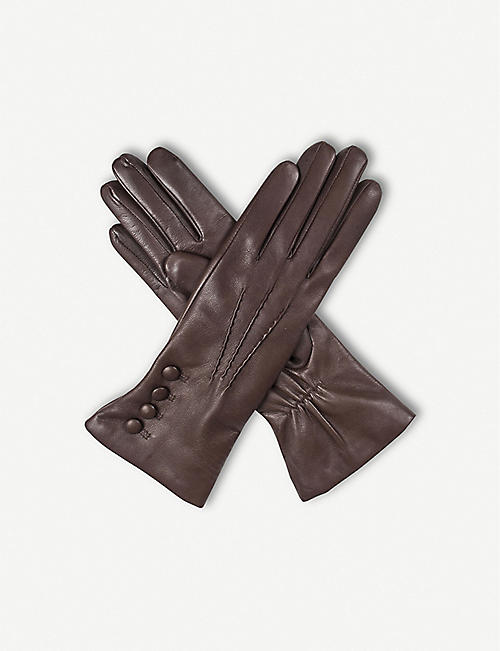 DENTS: 4-button leather gloves