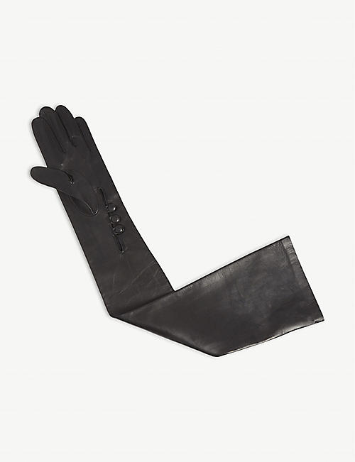 DENTS Long-length leather musketeer gloves