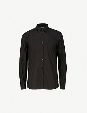 HUGO Extra slim-fit stretch-cotton shirt