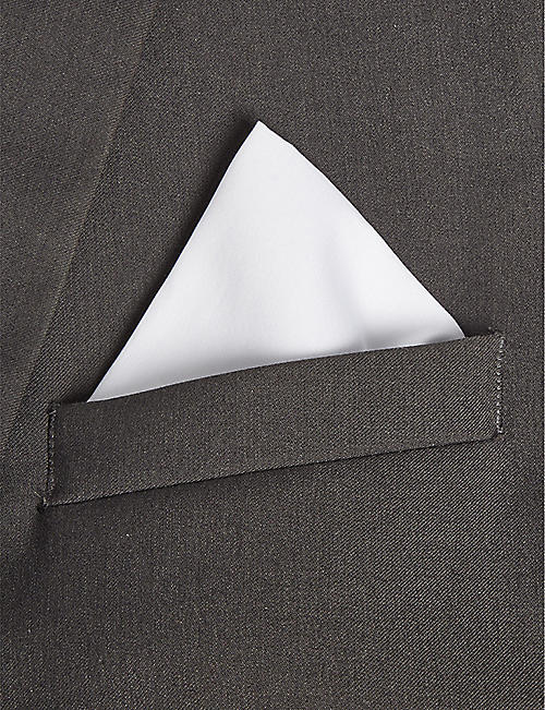 HUGO Solid cotton pocket square