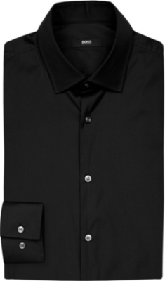 BOSS Slim-fit cotton shirt