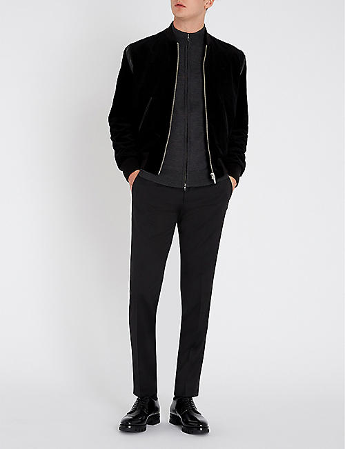 HUGO Slim-fit straight wool trousers