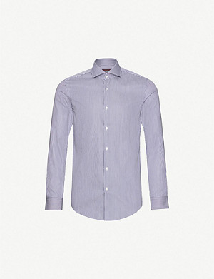 HUGO Striped slim-fit cotton shirt