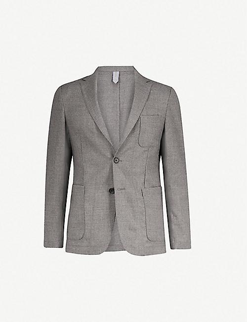 BOSS Textured regular-fit wool blazer d2c891d19712