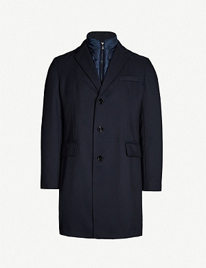 BOSS Padded-layer woven coat