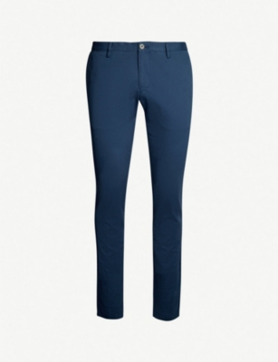 BOSS Slim-fit skinny stretch-cotton trousers