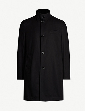 BOSS Funnel-neck cotton coat