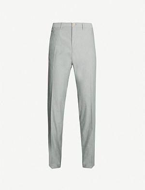 BOSS Business cotton-blend twill trousers