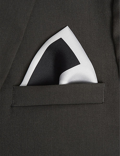 HUGO Logo silk pocket square