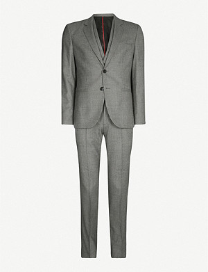 HUGO Three-piece virgin wool suit
