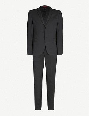 HUGO Extra slim-fit crease-resistant crepe suit