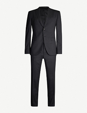 BOSS Single-breasted slim-fit wool-blend suit