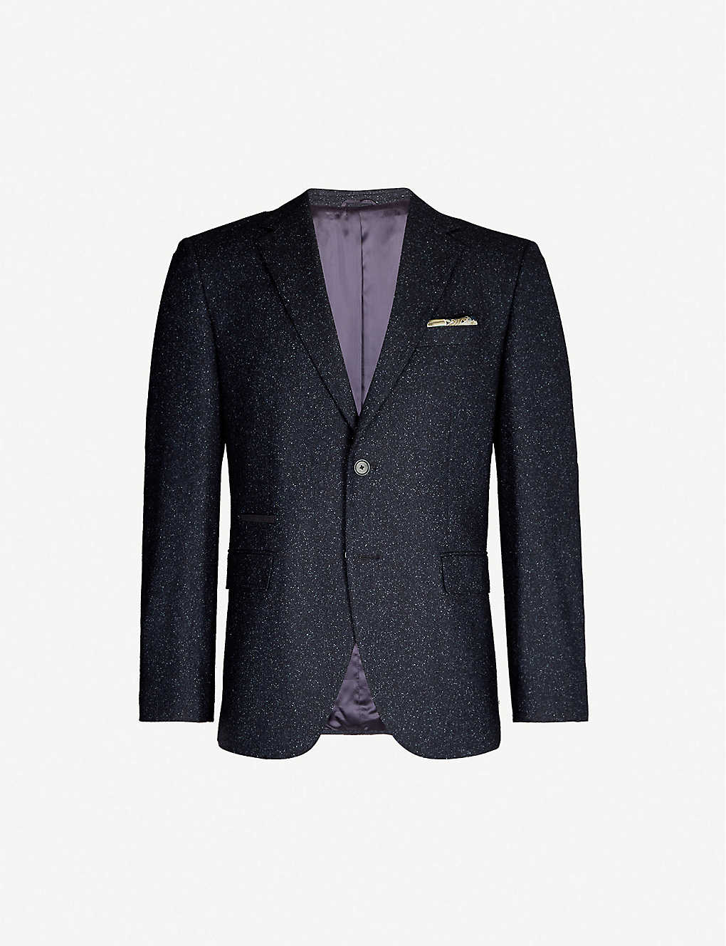 BOSS: Single-breasted slim-fit wool blazer