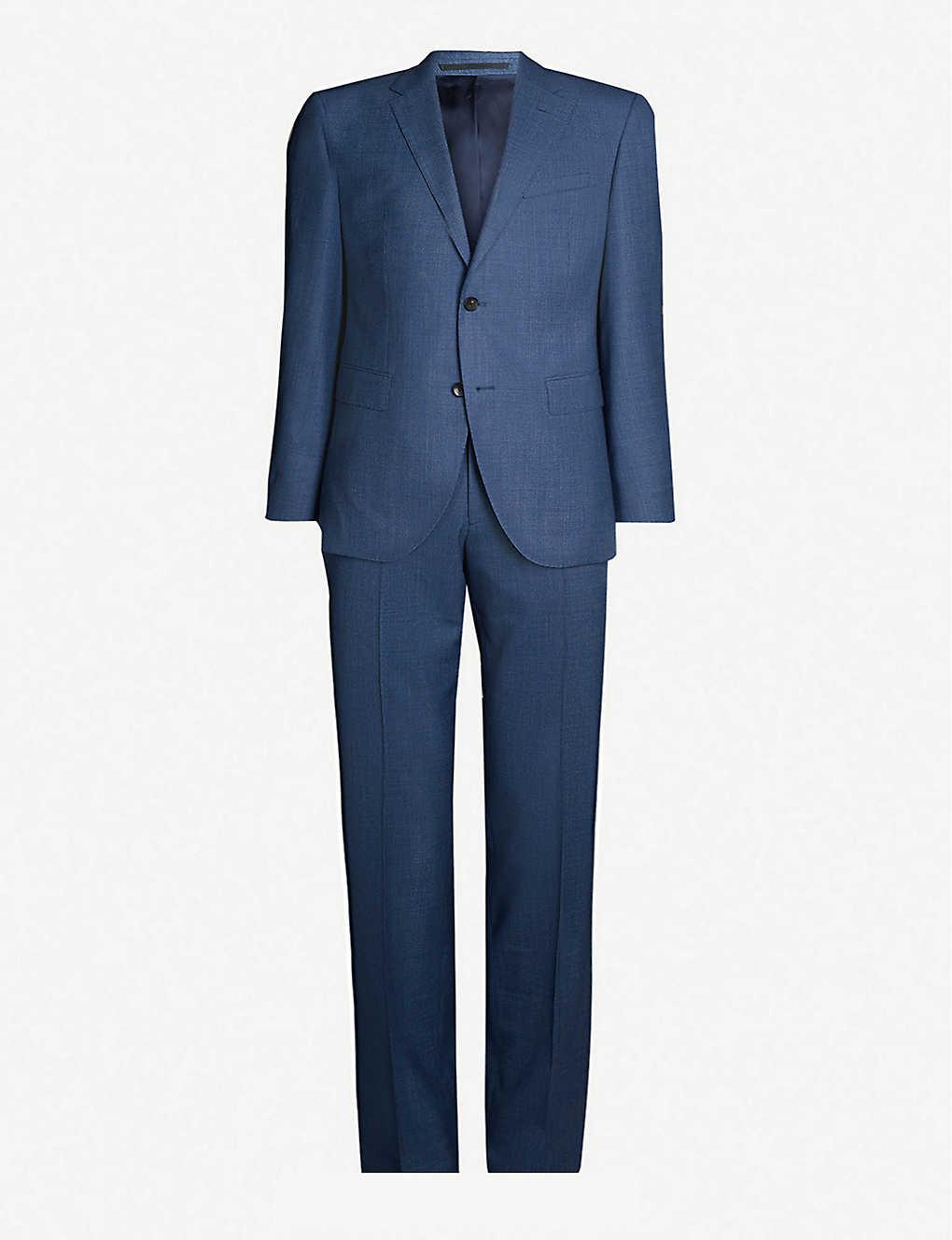 e3e34941a BOSS - Checked slim-fit wool suit | Selfridges.com