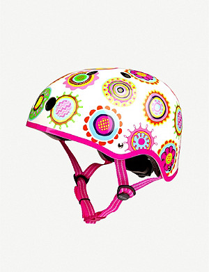 MICRO SCOOTER Doodle-patterned medium helmet