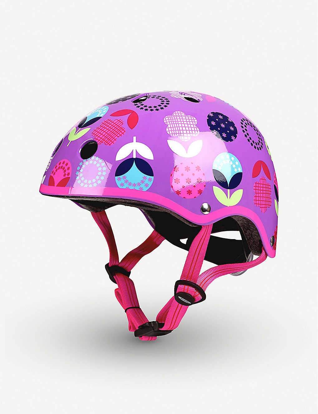 MICRO SCOOTER: Micro Deluxe Floral Dot medium helmet