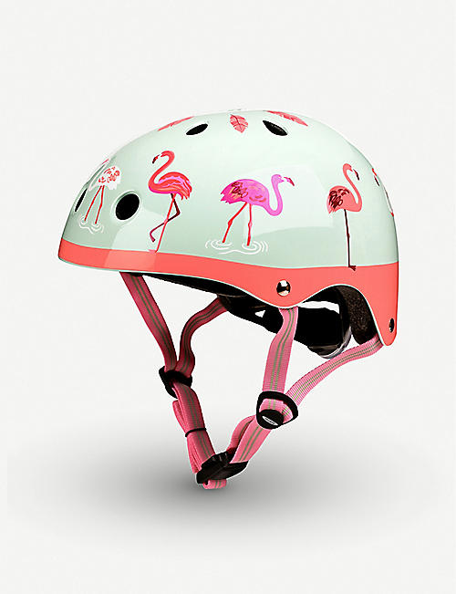 MICRO SCOOTER: Micro Deluxe Flamingo medium helmet