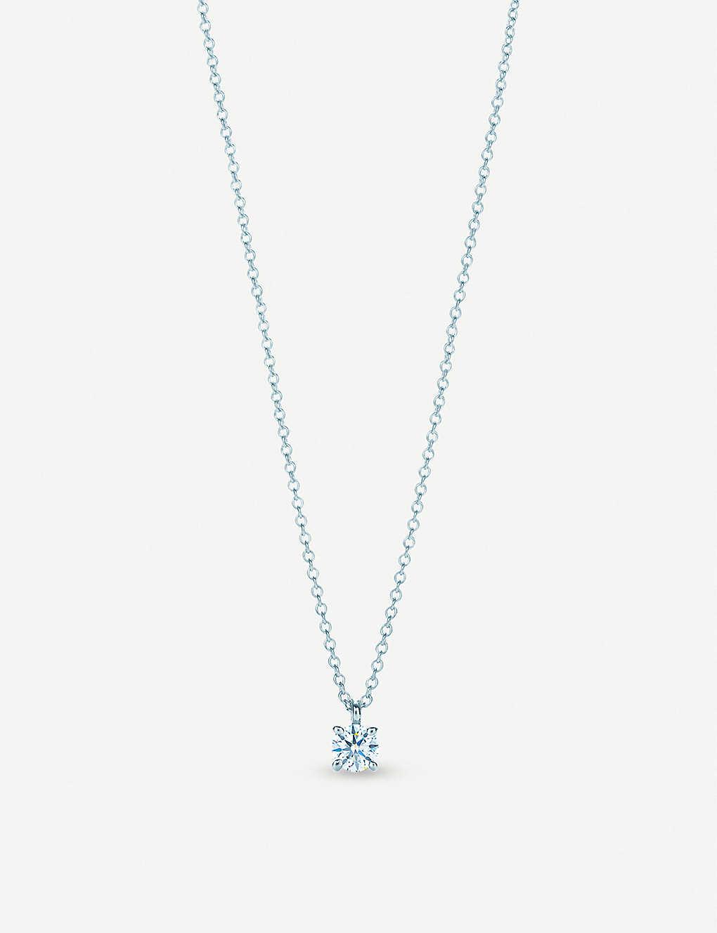 ec2a76936 TIFFANY & CO - Platinum and solitaire diamond pendant necklace ...
