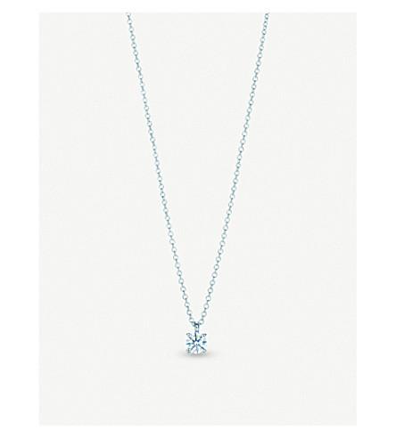 d45ab3602cec2 TIFFANY   CO - Platinum and solitaire diamond pendant necklace ...