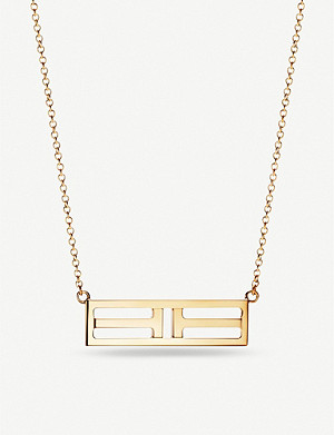 TIFFANY & CO Tiffany T Two Open Horizontal Bar gold pendant