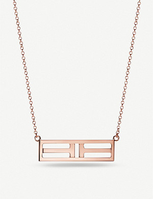 TIFFANY & CO Tiffany T Two Open Horizontal Bar rose-gold pendant