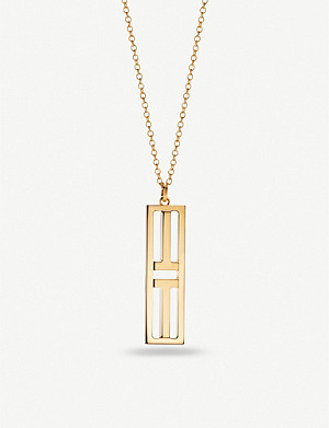 TIFFANY & CO Two Open Vertical Bar 18ct gold pendant