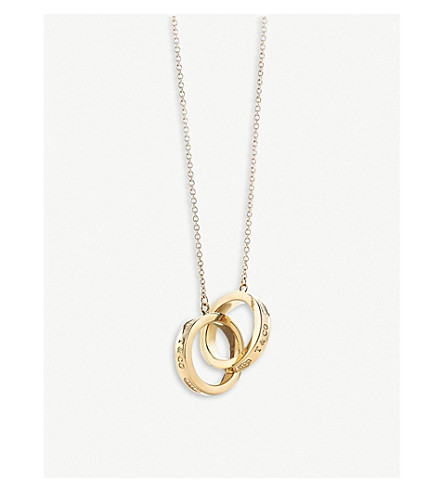 0c2b25ec8c24 TIFFANY   CO - Tiffany 1837 Interlocking Circles 18ct gold pendant ...