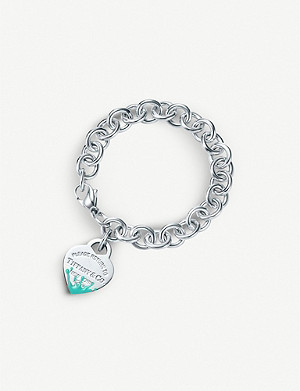 TIFFANY & CO Color Splash Heart Tag sterling silver bracelet