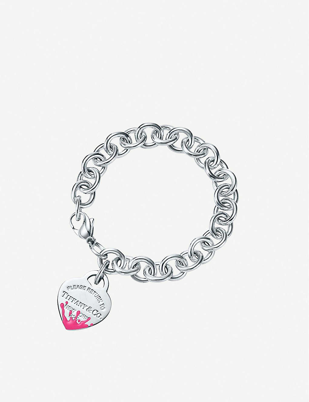 31629734c9 TIFFANY & CO - Color Splash Heart Tag sterling silver bracelet ...