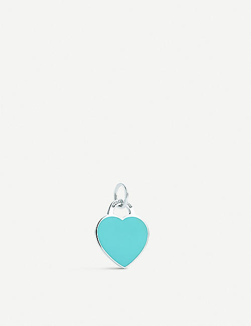 TIFFANY & CO Return to Tiffany heart tag sterling silver and enamel charm