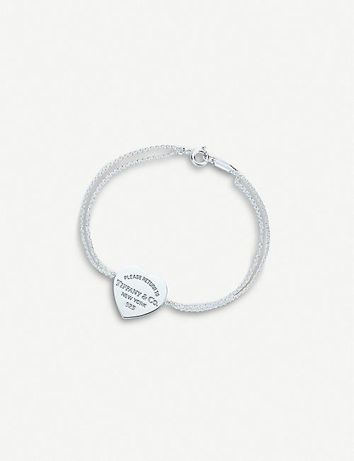 4fb19e236fd7 TIFFANY   CO Return to Tiffany™ heart tag sterling silver chain bracelet