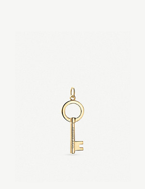 TIFFANY & CO Modern Keys 18ct yellow-gold pendant