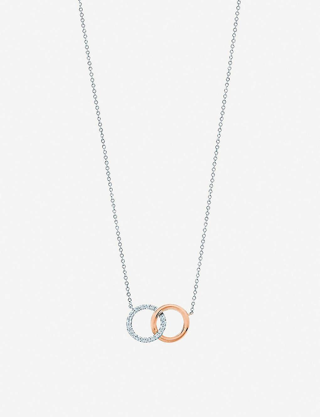 48c77444b TIFFANY & CO - Tiffany 1837 interlocking circles 18ct rose-gold and ...