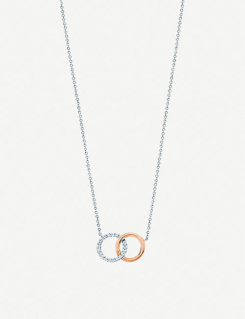 b9bf1bd0775d TIFFANY   CO Tiffany 1837 interlocking circles 18ct rose-gold and silver  pendant