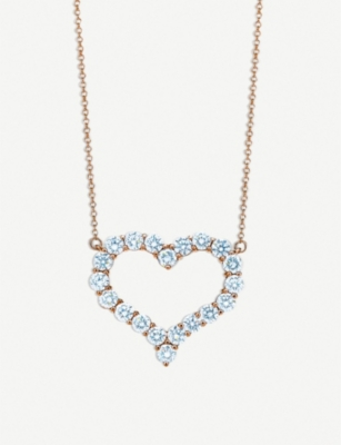 TIFFANY & CO Tiffany Hearts™ 18ct gold and diamond pendant necklace