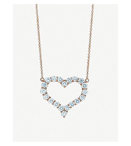 7a485014ea23c TIFFANY   CO Tiffany Hearts™ 18ct gold and diamond pendant necklace