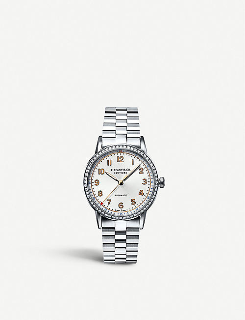 628f1f723 TIFFANY & CO Tiffany CT60 3-Hand 34mm women's watch in stainless steel