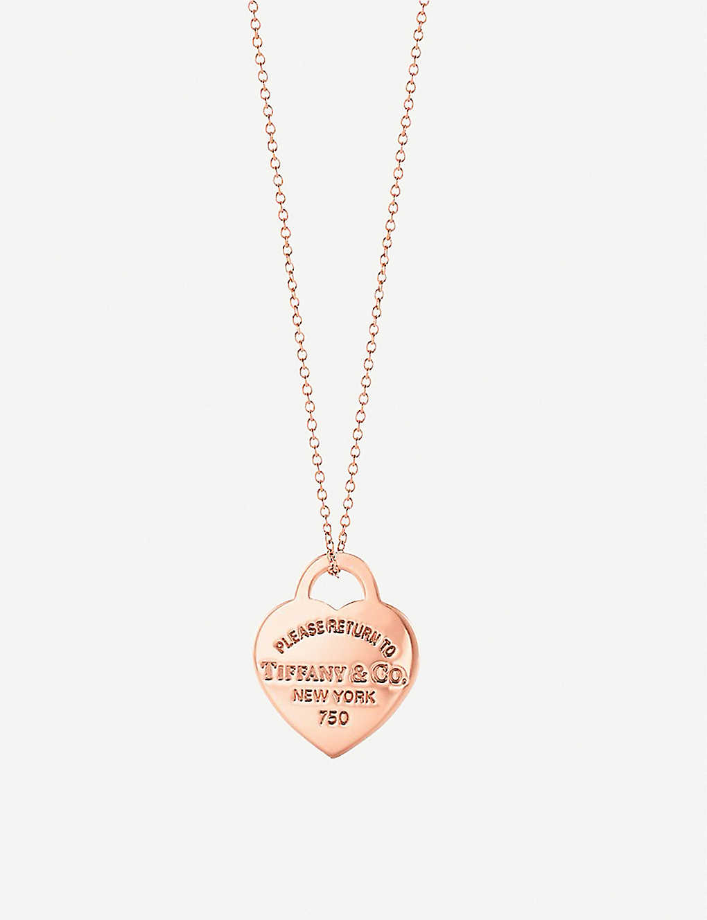 2bb033252 TIFFANY & CO - Return to Tiffany's 18ct rose-gold heart tag necklace ...