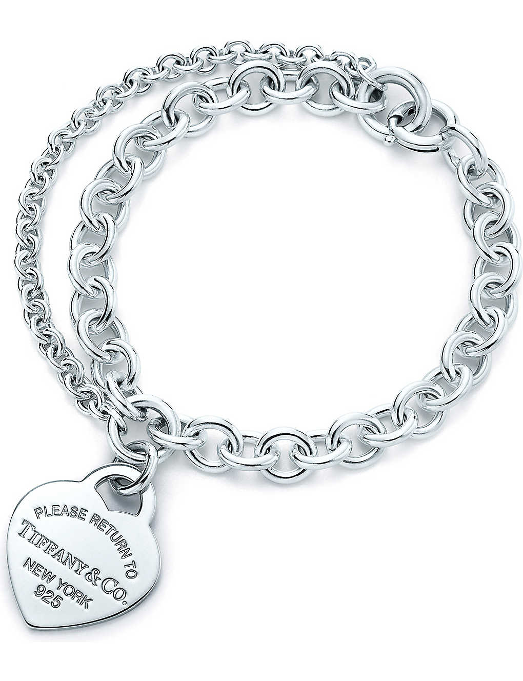 0c7afeb0a TIFFANY & CO - Return to Tiffany heart tag charm double-chain ...